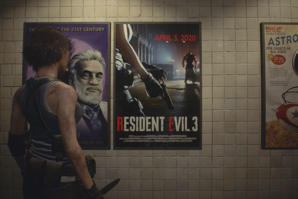 Image result for resident evil 3 remake demo menu