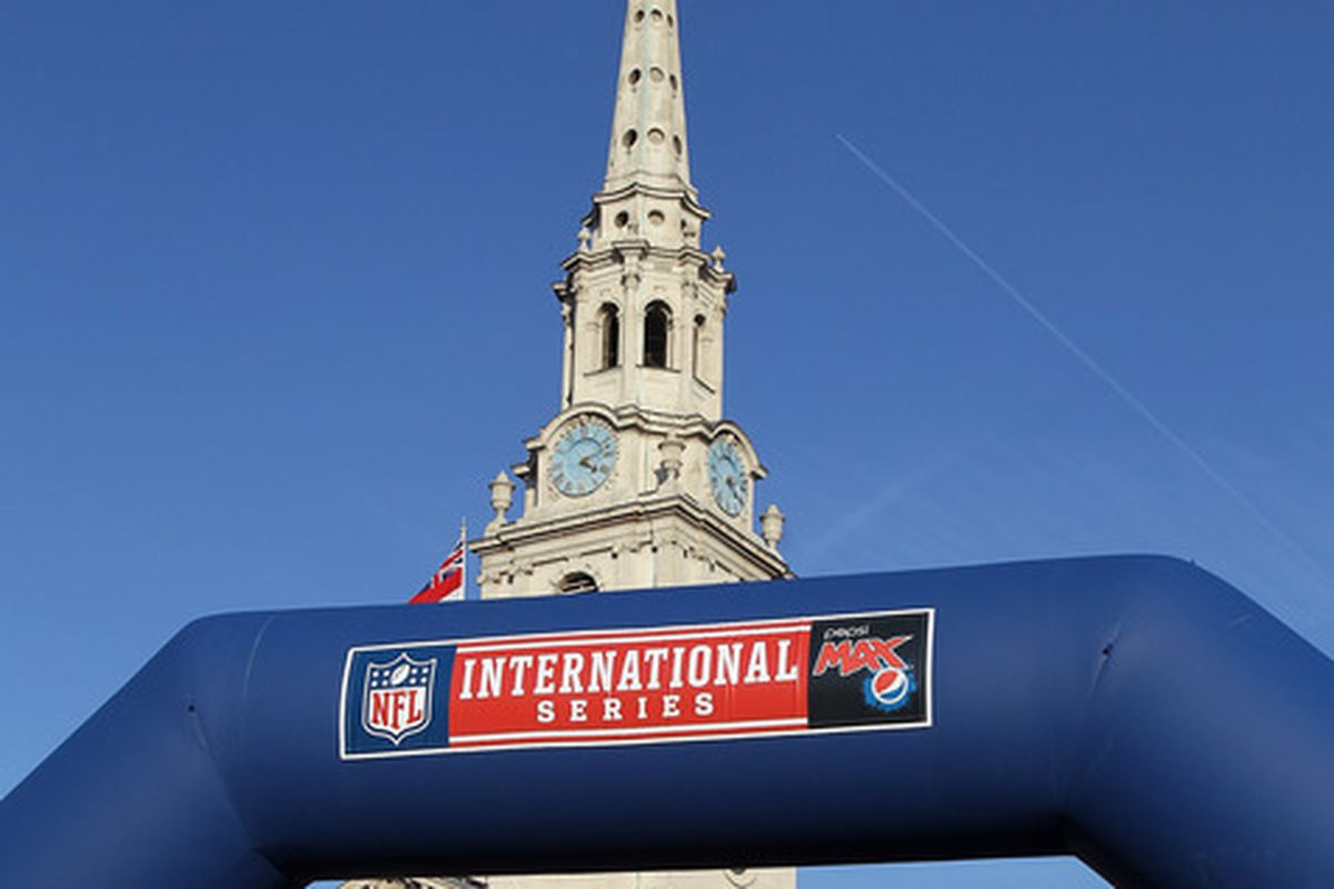 There's a guy wearing a Cutler jersey in this picture. And THAT is why the NFL won't work full-time in London.