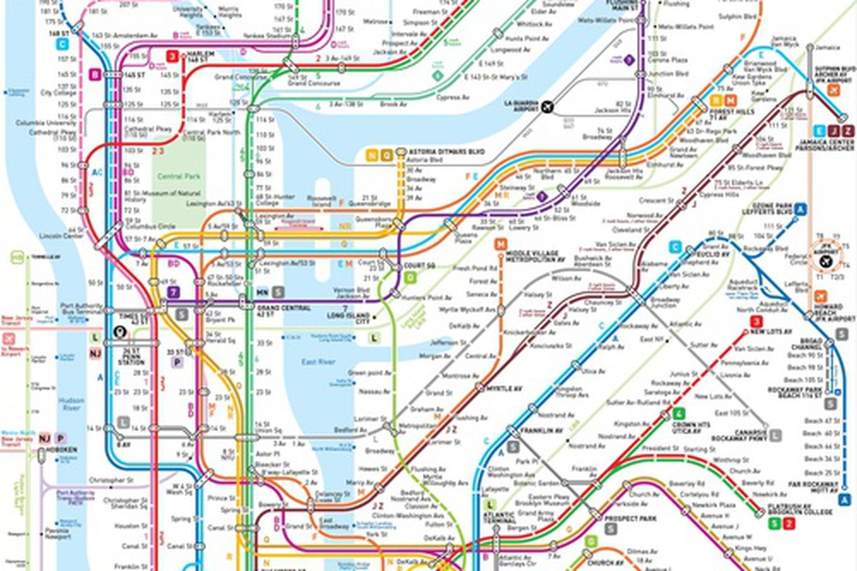 N R Subway Map Nyc.This New Nyc Subway Map May Be The Clearest One Yet Curbed Ny