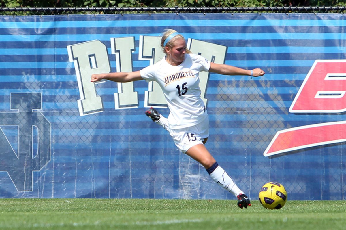 Junior Taylor Madigan provided the game winner for the Golden Eagles.