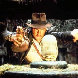 """Harrison Ford played Indiana Jones in """"Raiders of the Lost Ark."""""""
