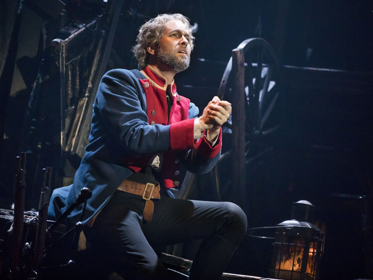 """Nick Cartell plays the former convict Jean Valjean in the touring production of """"Les Miserables"""" now at the Cadillac Palace Theatre."""