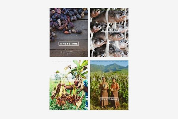 4 different covers of Whetstone Magazine