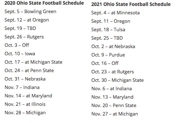 Oregon State Football Schedule 2020.Big Ten Sets 2020 2021 Conference Football Schedules For