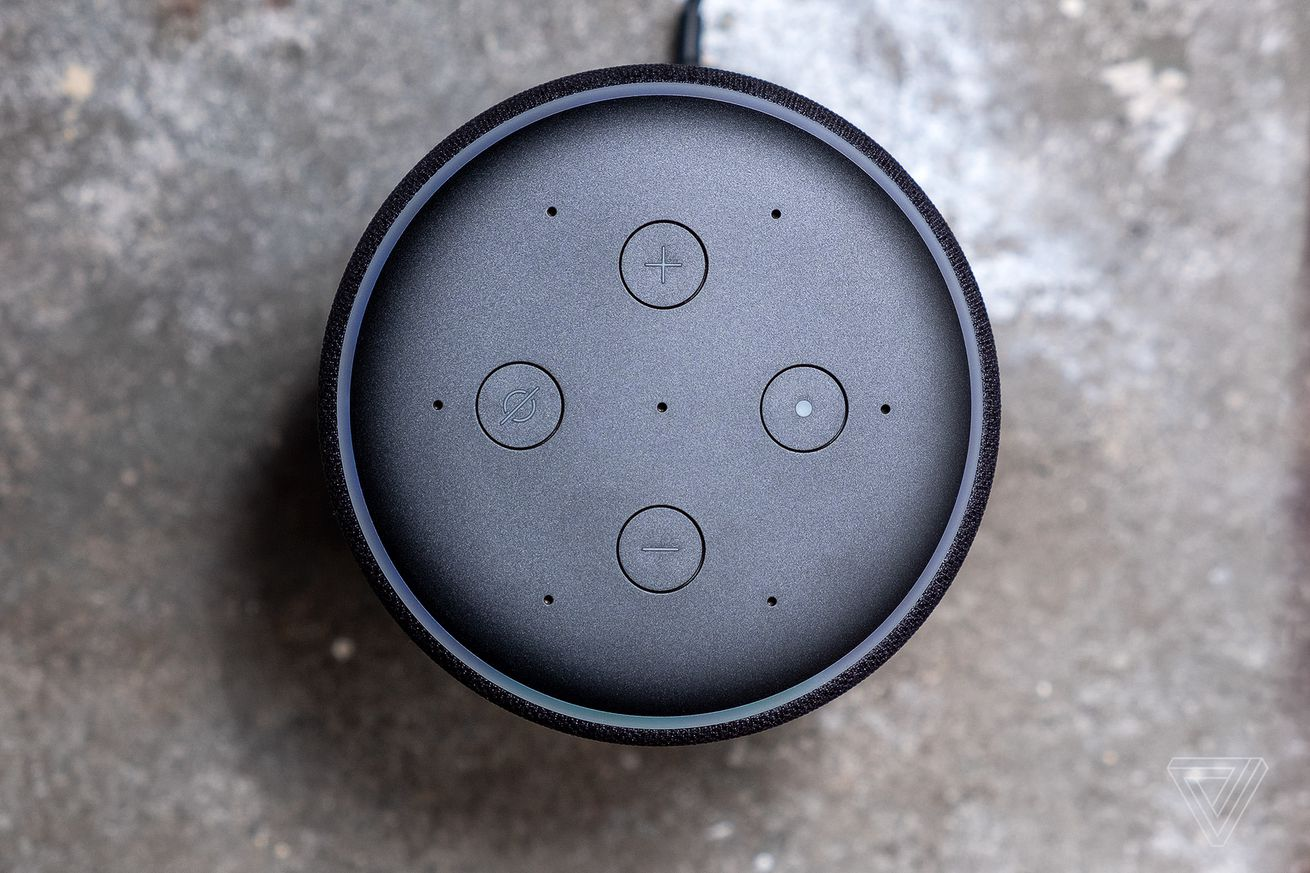 <em>Amazon Echo speaker.</em>