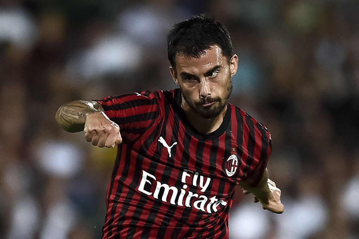 Suso of AC Milan in action during the pre-season friendly...
