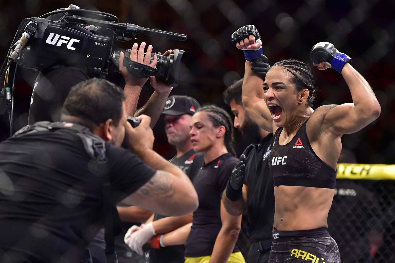 Viviane Araujo will return to the Octagon in a flyweight bout.