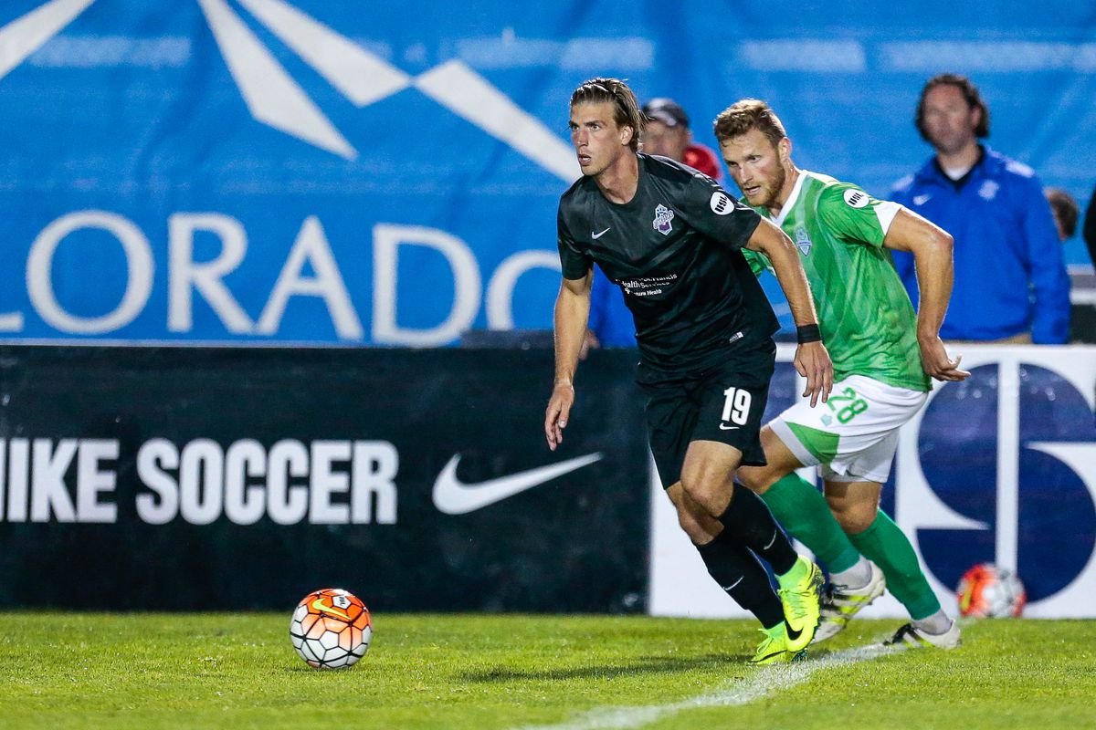Conor Doyle in action while on loan to the Colorado Springs Switchbacks.