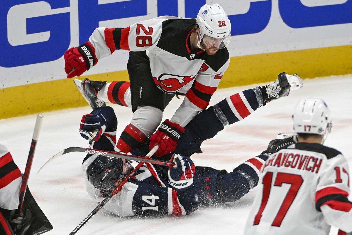 NHL-New Jersey Devils at Washington Capitals