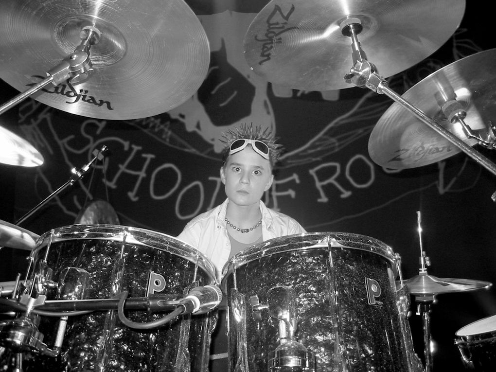 """Drummer Kevin Clark pictured in a 2003 promotional photo for """"School of Rock."""""""