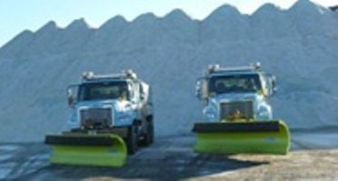 Chicago Streets and Sanitation Snow Fighters amid some of the city's 400,000 tons of salt.