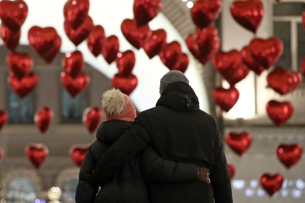 Moscow on the eve of Valentine's Day