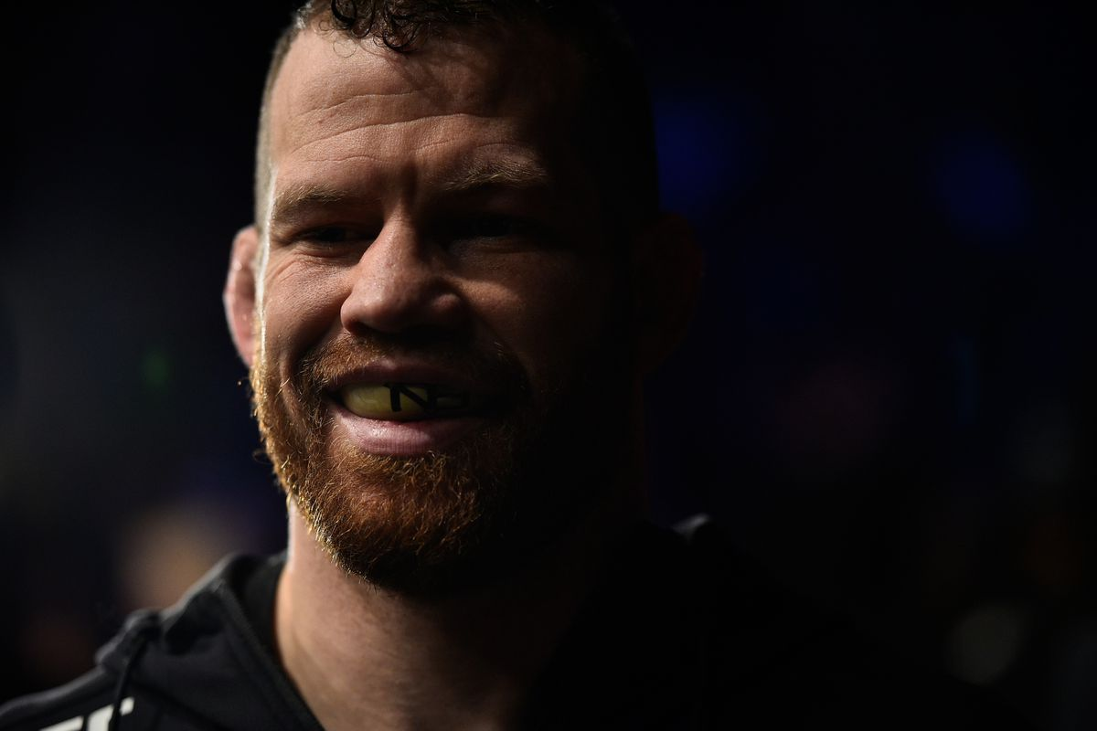 Nate Marquardt before his fight with Cezar Ferreira at UFC Norfolk in 2017.