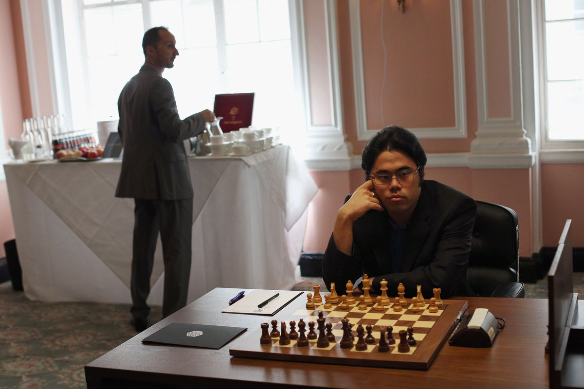 Grandmasters Compete In the World Chess Championship At Simpson's In The Strand