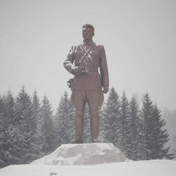 In this Tuesday, April 3, 2012 photo, a bronze monument of the late North Koran leader Kim Il Sung stands at the Samjiyon Grand Monument area in Samjiyon, North Korea at the base of Mount Paektu.