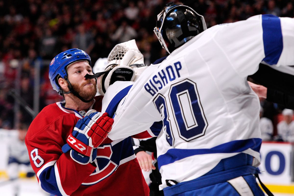 Bishop thanks Prust for his concern about his personal protective equipment.