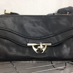 Leather clutch, $30