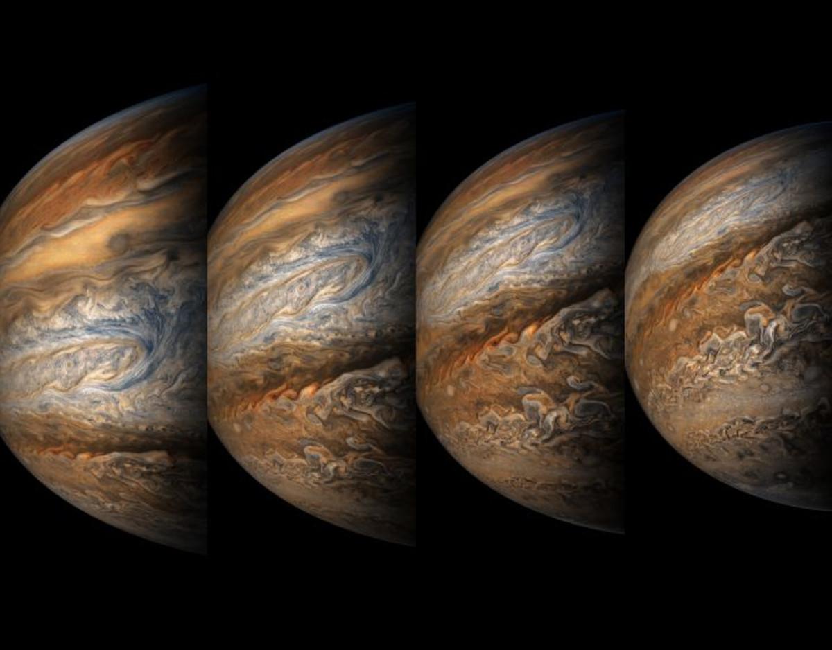 Four images of Jupiter