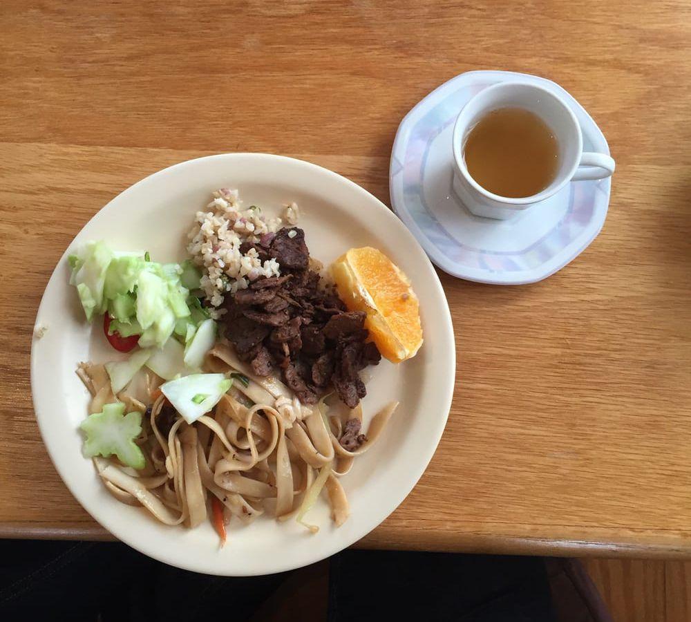 Tea and food at Xiang Yun Tea Room