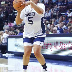 Maria Conlon puts up a three-pointer.