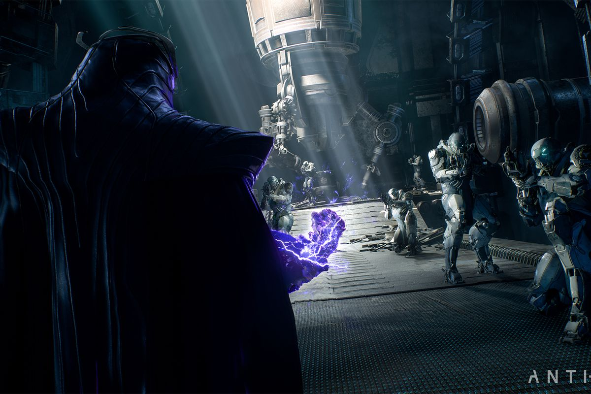Anthem - cloaked figure and his purple fist