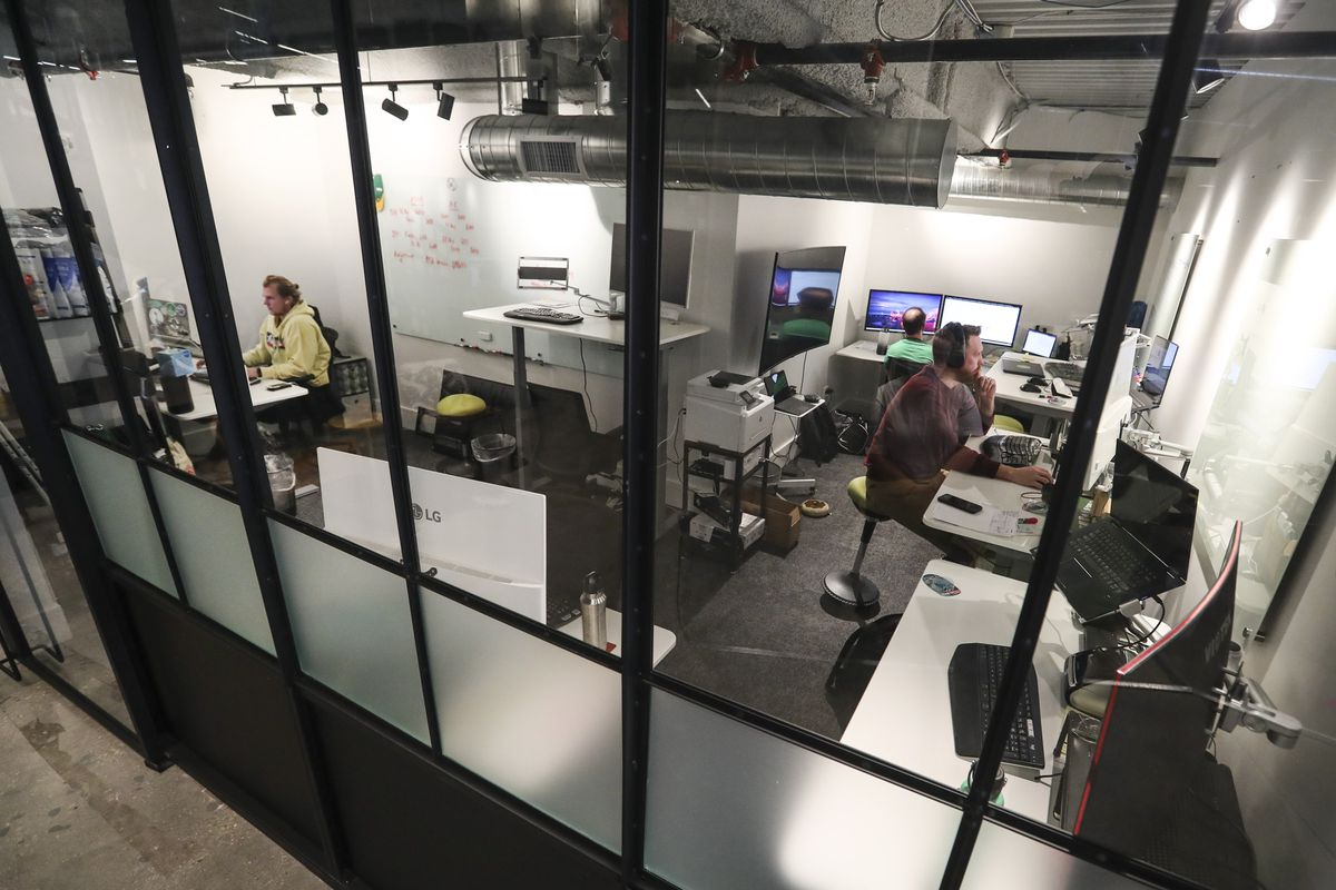 The Brick and Vine office in the Kiln co-working community at The Gateway in Salt Lake City.