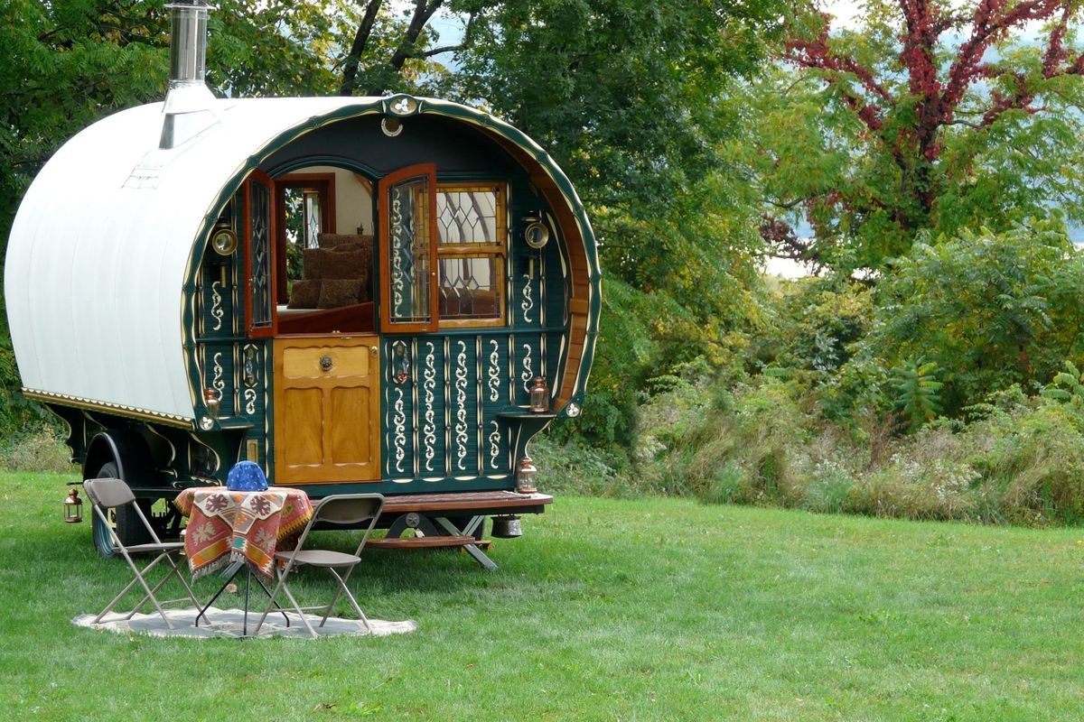 The Trillium Caravan was created by famed woodworker Jim Tolpin in Washington state.