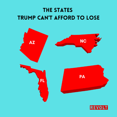 Trump states for election
