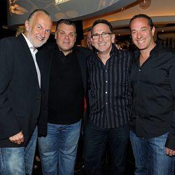 Hubert Keller, Francois Payard, Rick Moonen and Bruce Bromberg at Nobu. Photo: David Becker
