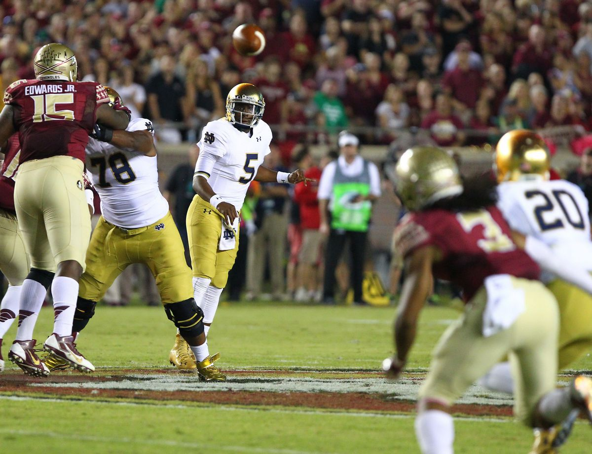 NCAA FOOTBALL: OCT 18 Notre Dame at Florida State