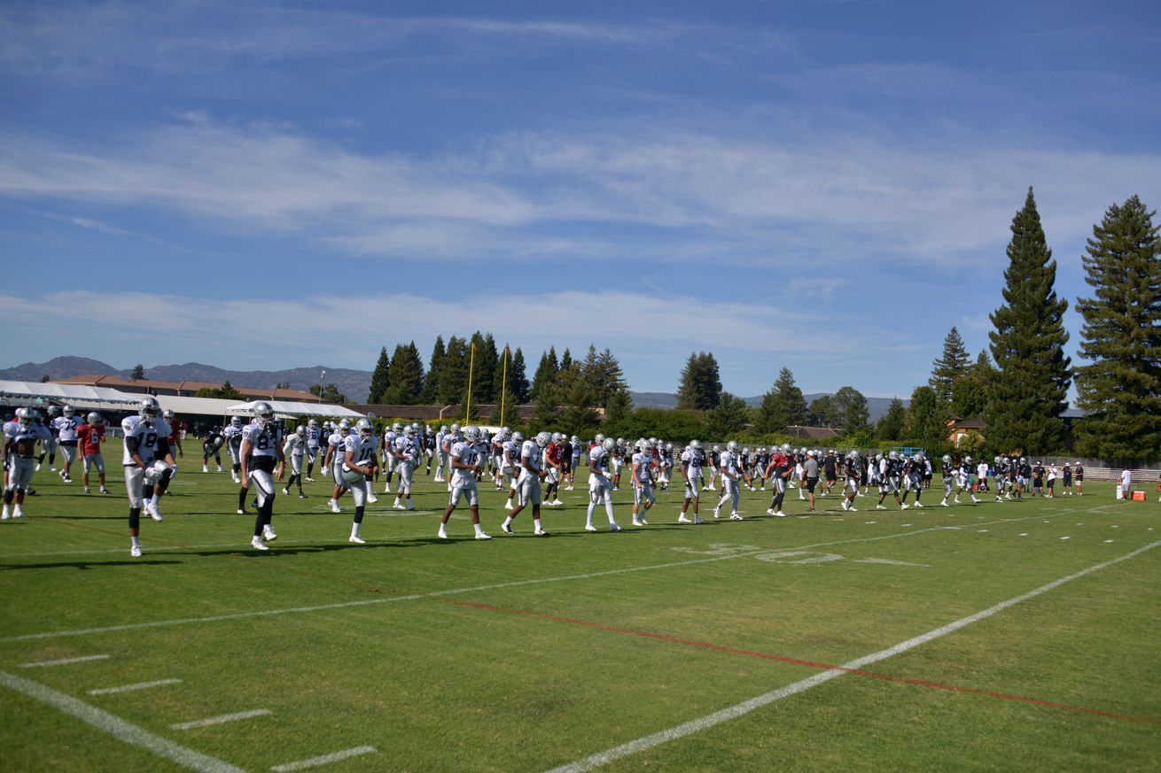 Raiders open training camp today and it's Alumni day