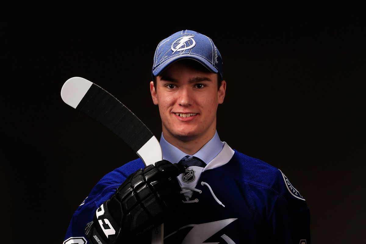 Lightning first round draft choice Jonathan Drouin, one of five forwards selected by Tampa Bay in the 2013 NHL Entry Draft
