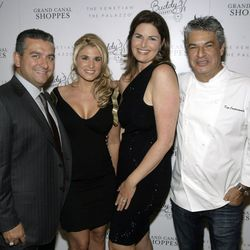 Buddy Valastro, Lisa Valastro, Elizabeth Blau and Kim Canteenwalla at Buddy V's Ristorante. Photo: Los Caraballo