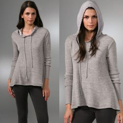 Jersey and silk hoodie by Elizabeth & James, available at Shopbop.com
