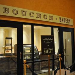 Not quite, but almost ready. Upstairs at the new Bouchon Bakery.