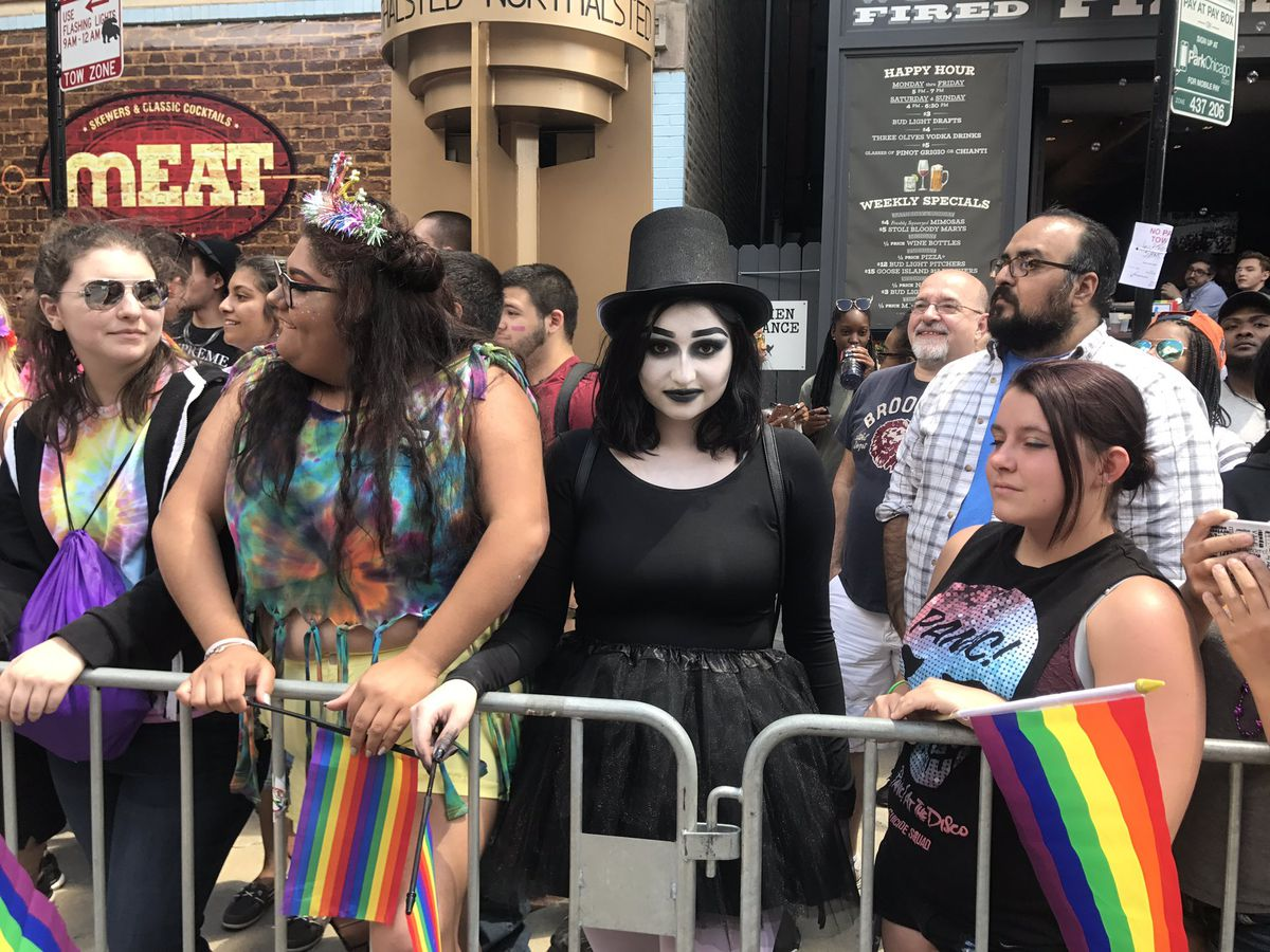 A Babadook sighting at the Chicago Pride Parade on Sunday. | Jacob Wittich/For the Sun-Times