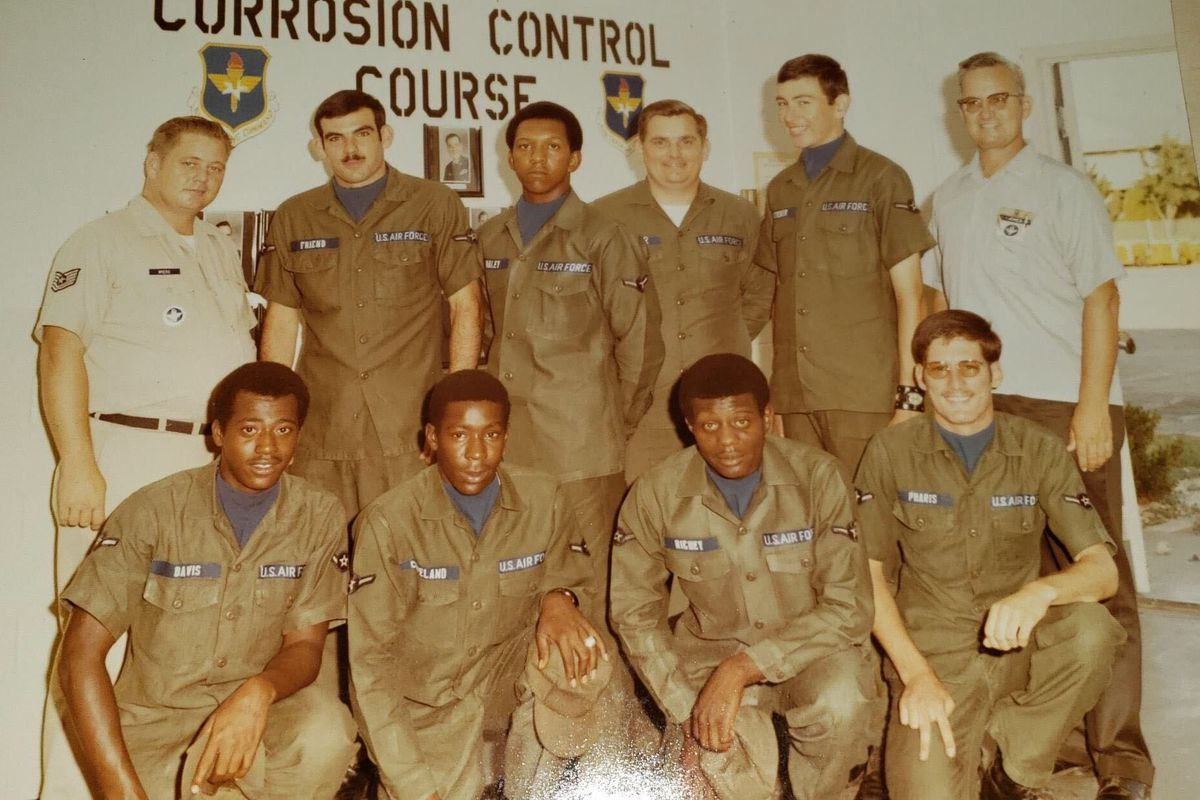 Air Force veteran Alexander Richey  (bottom row, second from right) who served in Vietnam as an aircraft mechanic, died April 16 in Jamaica Hospital of COVID-19.