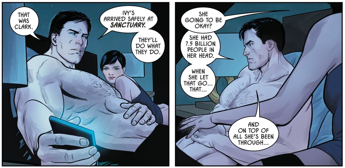 Batman and Catwoman discuss Ivy's rehabilitation in Batman #43, DC Comics (2018)