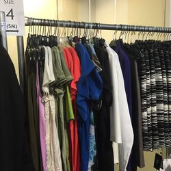 The women's selection in smaller sizes 2 through 6 had colorful tees, tank tops and blouses