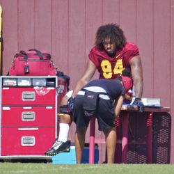 Leonard Williams left practice with an injured left foot/ankle.