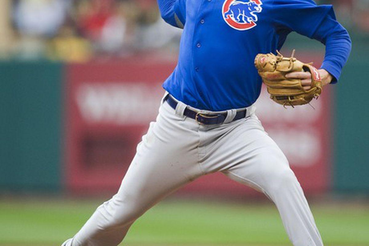 St. Louis, MO. USA; Chicago Cubs pitcher Jeff Samardzija throws to a St. Louis Cardinals batter in the third inning at Busch Stadium. Credit: Jeff Curry-US PRESSWIRE
