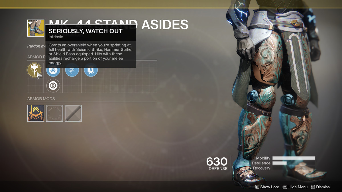 Mk. 44 Stand Asides Exotic Destiny 2