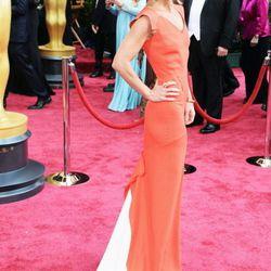 Kelly Ripa going for bold in orange.