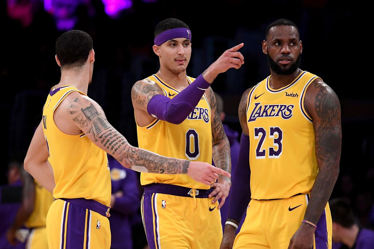 9231c0ecae6 Kyle Kuzma and LeBron James think the Lakers really need Lonzo Ball back,  especially defensively. New ...