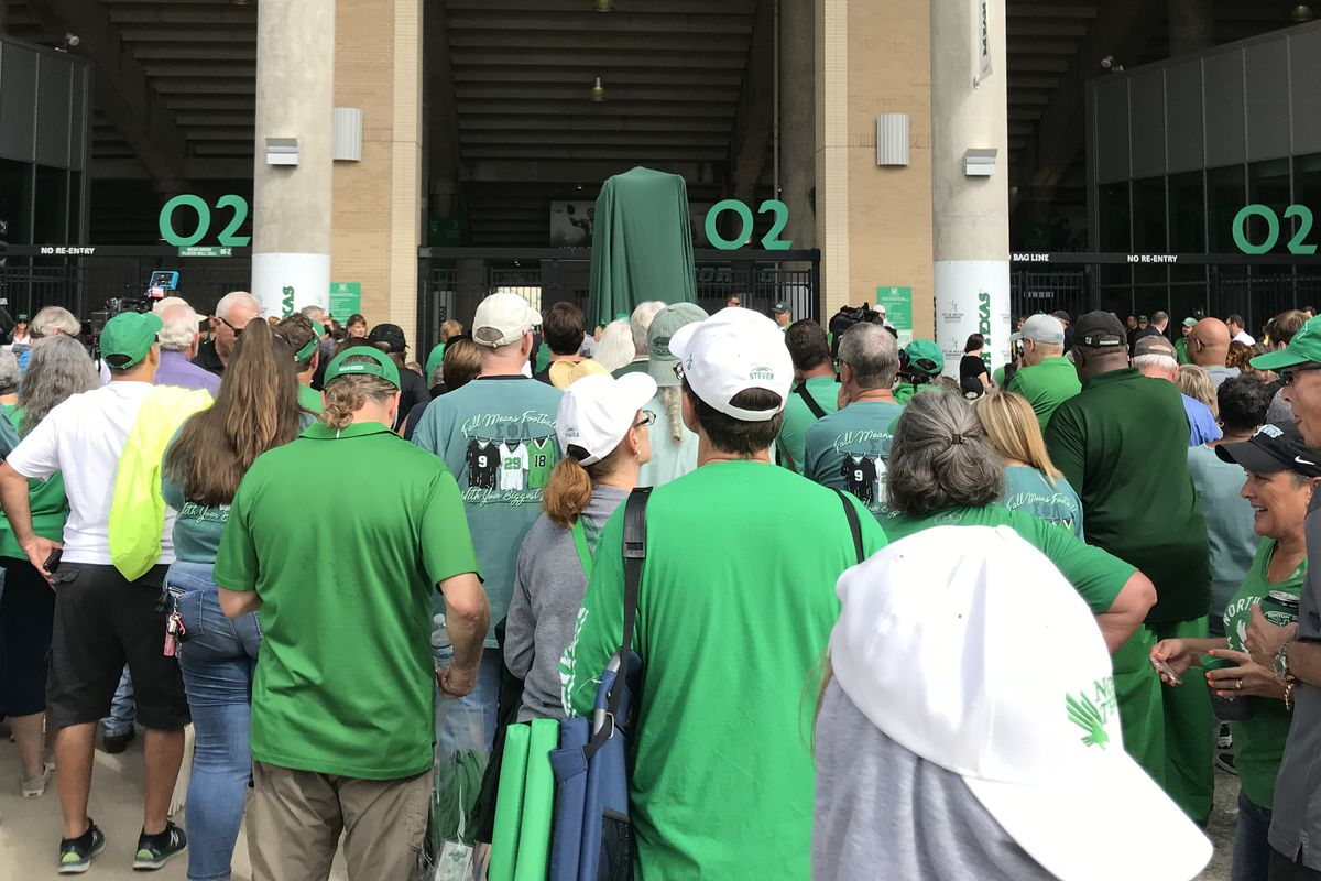 d402ac4757a First look at North Texas' 'Mean' Joe Greene statue outside Apogee Stadium. UNT  unveiled ...