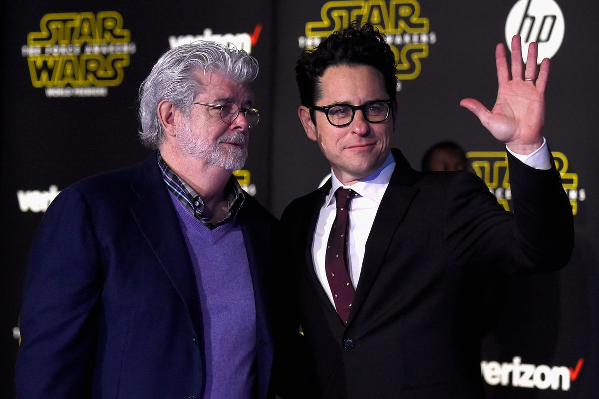 George Lucas and J.J. Abrams, two directors of a storied franchise.