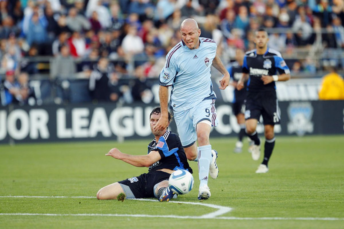 Is Conor Casey dying to prove Bob Bradley wrong for leaving him out of the USA World Cup camp? Or will the snub serve to hurt his confidence and impact his play negatively? Let's hope for the latter.