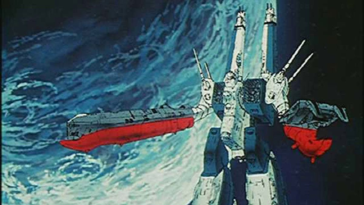 A screenshot of the SDF-1 in the show Robotech