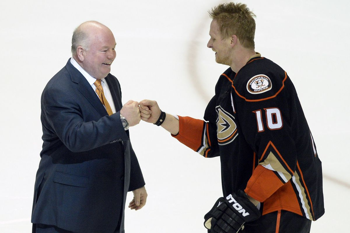 Bruce Boudreau isn't concerned about Corey Perry's slow start offensively.