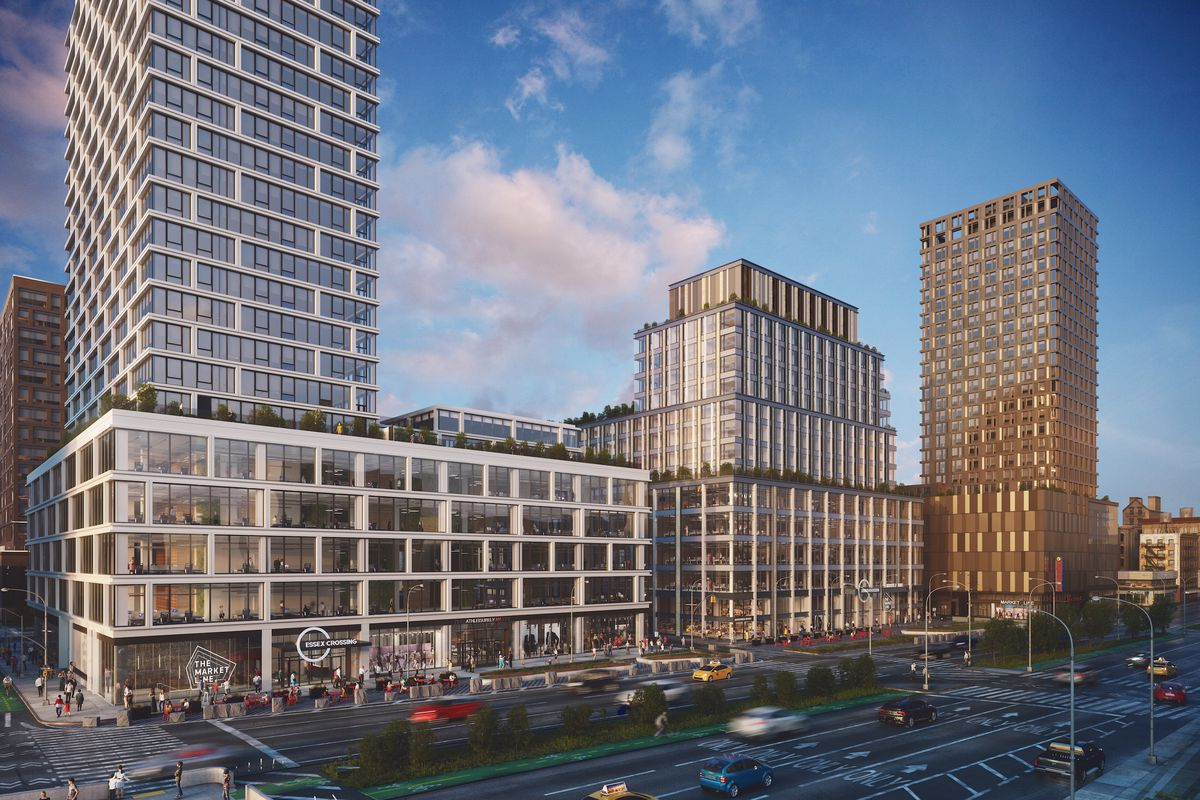 Rendering of Essex Crossing megaproject on the Lower East Side